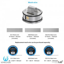 Mesh Wire per Mesh RDA -SS316L