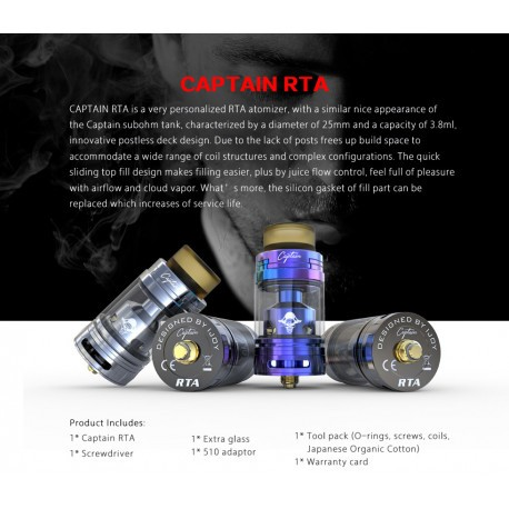 Atomizzatore Captain RTA 25mm By iJoy